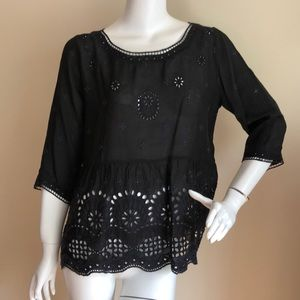 Johnny Was embroidered eyelet top